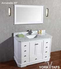 "Annabelle 48"" White Bathroom Vanity"