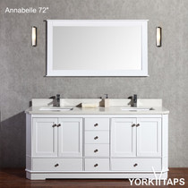 "Annabelle 72"" White Bathroom Vanity"