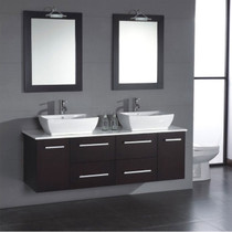 "Rodeo 60"" Wall Mount Bathroom Vanity"