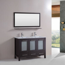 "Victoria 48"" Double Sink Bathroom Vanity Espresso"