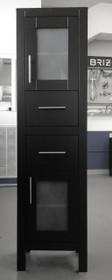 "Armada Side Linen Cabinet Tower Espresso 16"""