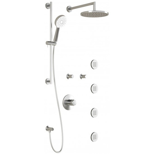 Kalia CITÉ T375 PLUS Thermostatic shower System with 4 Round Jets BN