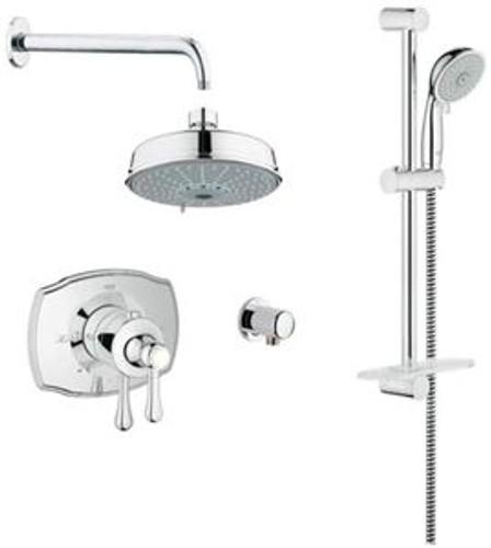 Grohe 117170 Authentic THM Dual Function Shower System in Starlight Chrome