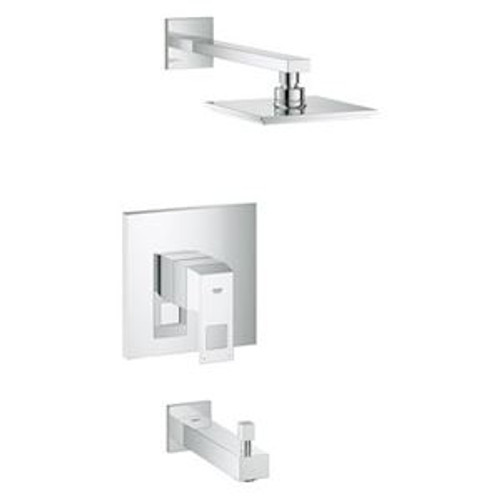 Grohe 35027000 Eurocube Pressure Balancing Tub and Shower Valve Trim Only in StarLight Chrome
