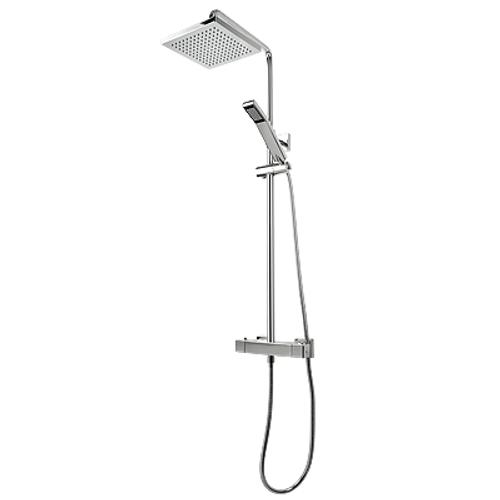 Rubi Hana Thermostatic Exposed Shower System Chrome York