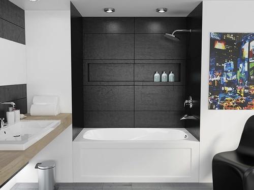 Mirolin Tucson Skirted Bath Tub 60 x 32 Left Hand Drain