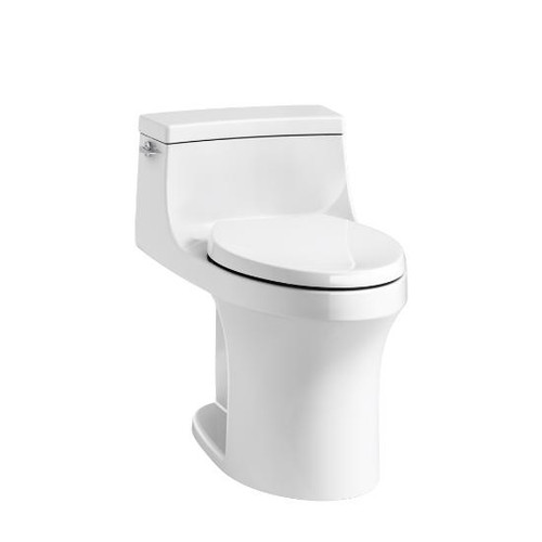 San Souci® Comfort Height® one-piece compact elongated 1.28 gpf toilet with AquaPiston® flushing technology and left-hand trip lever, concealed trapway - K-5172