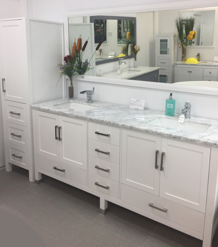 "Armada 90"" Bathroom Vanity & Side Cabinet Tower"