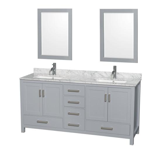 """Armada 72"""" Bathroom Vanity Ice Grey"""