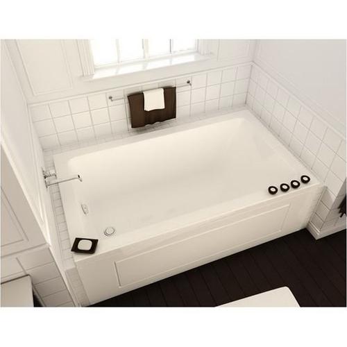Maax Bath Acrylic End Drain Drop-In Rectangular Bathtub, White