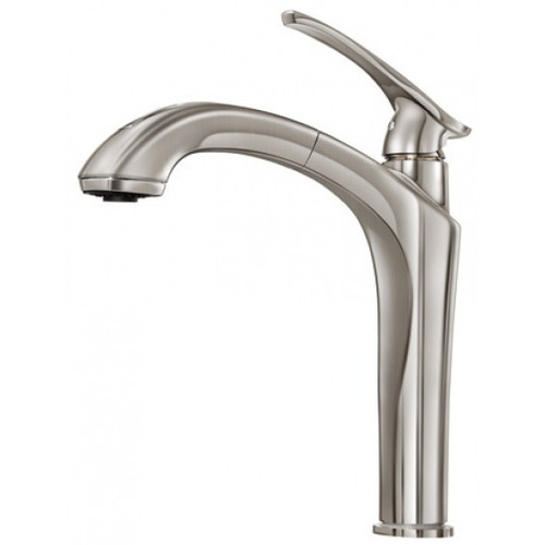 KALIA NAJA SURFER KITCHEN FAUCET WITH PULLOUT DUAL SPRAY- STAINLESS STEEL
