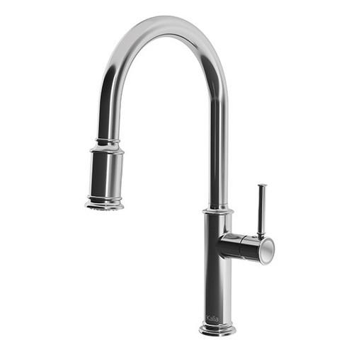KALIA Okasion Single-handle kitchen faucet with ergonomic pull-down spray- Chrome