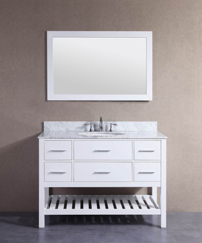 "Dezini 48"" Bathroom Vanity White"