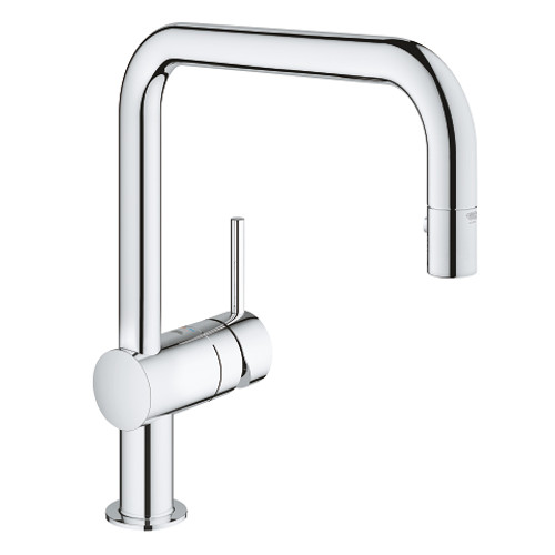 chrome en l kitchen faucet polished pull fullerton down rona
