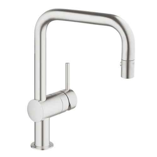 Grohe Minta Single Handle Kitchen Faucet SuperSteel
