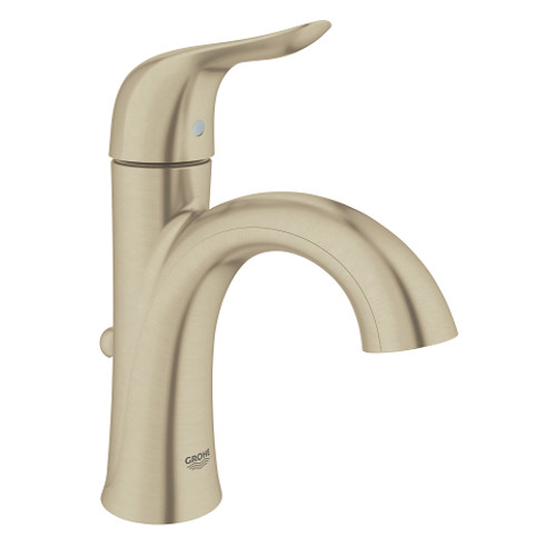 Grohe Agira SingleHandle Bathroom Faucet Lavatory Centreset Brushed - Nickel finish bathroom faucets