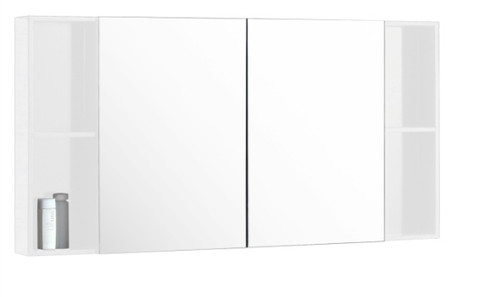 "48"" Medicine Cabinet Mirror With Shelving White/ Espresso"