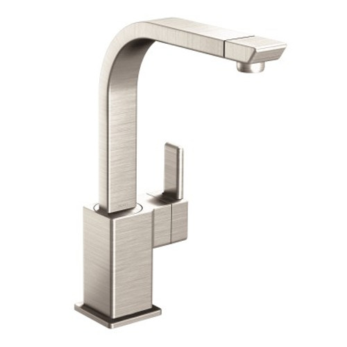 Moen 90 Degree One-Handle High Arc Kitchen Faucet Spot Resist Stainless Finish