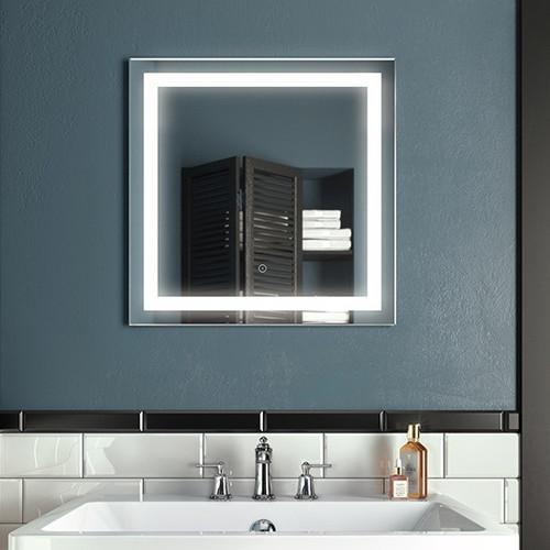 "Kalia Effect Square Illuminated LED Mirror 24"" x 24"""