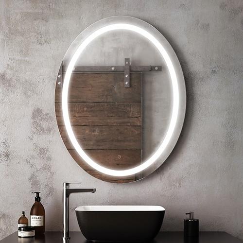 "Kalia Effect Oval Illuminated LED Mirror 30"" X 38 """