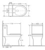 Crown Jewel Single Flush Skirted Toilet One Pc