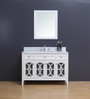 """Casa 48"""" White Single Sink Bathroom Vanity"""