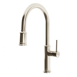KALIA Okasion Single Handle Kitchen Faucet With Ergonomic Pull Down Spray   Stainless Steel