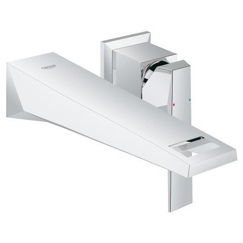 Grohe Allure Brilliant Two Hole Wall Mount Vessel Trim Bathroom Faucet  M Size Chrome