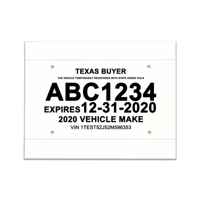 paper license plate template Waterproof