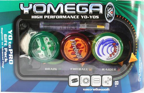 Yomega 3 Piece Yo-Yo Gift Set