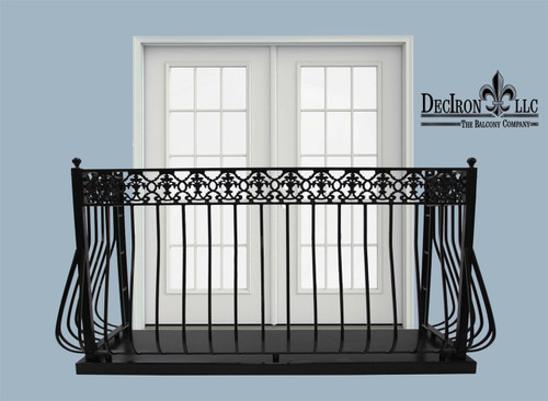 LIGHT IRON DOVE BALCONY with platform