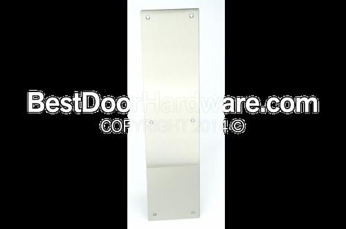 DCI Square Corner Door Push Plate