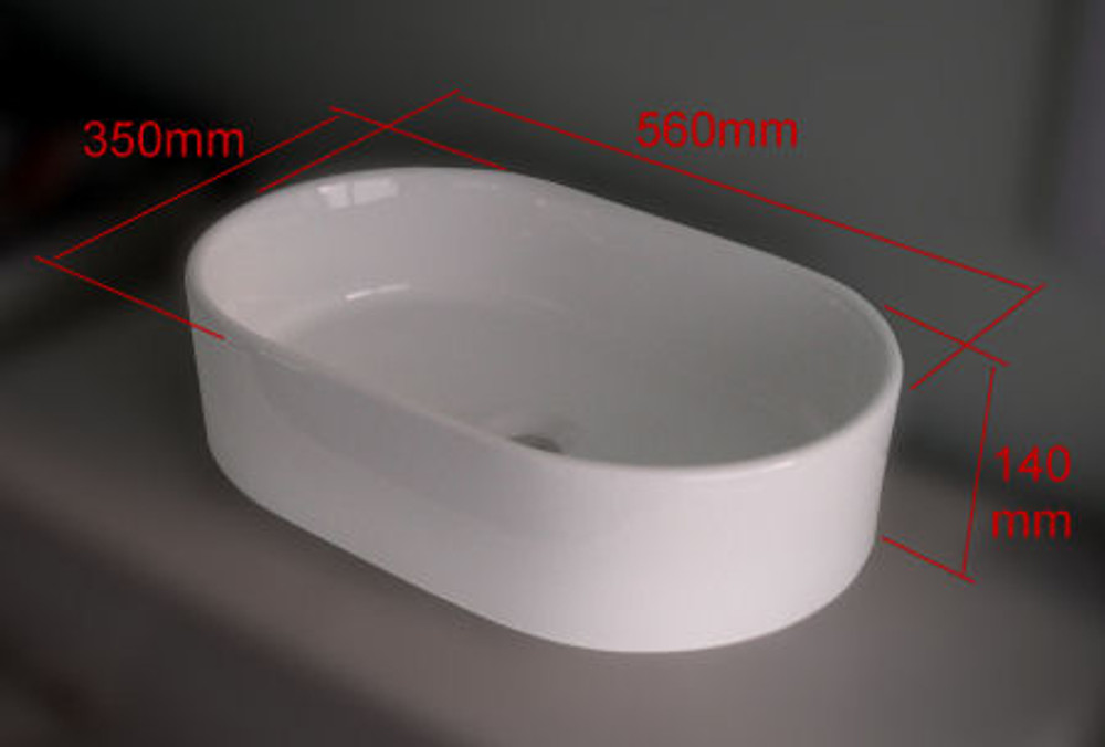 Racecourt Shape Slim Basin - D294H