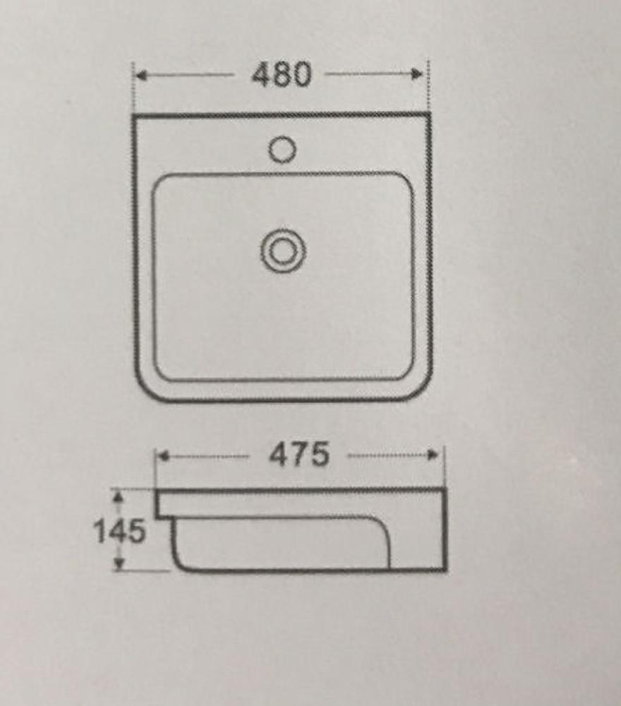 Rectangular Semi Inset / Drop In Basin 4037
