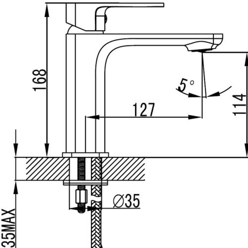 ikon SETO Basin Mixer Tap - Matt Black