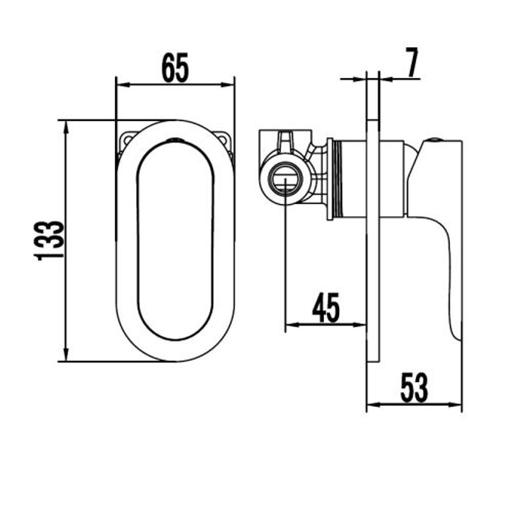 ikon BANDA Wall Mixer Tap - Shower / Bath