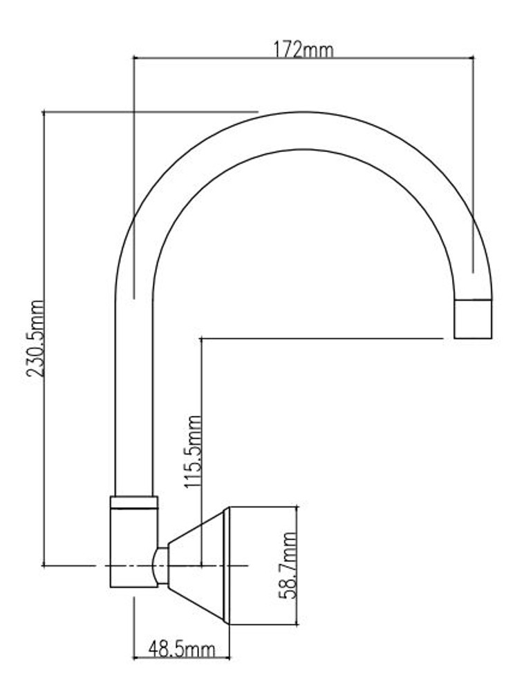 Betis Wall Sink Spout
