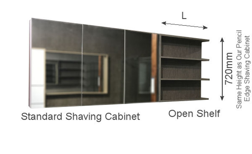PURE Open Shelf  (Next to Shaving Cabinet)