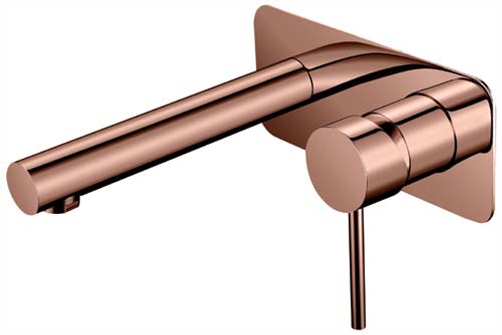 Lollypop Bath Spout and Mixer Tap Combination Rose Gold