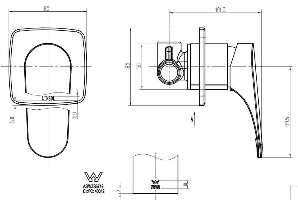 Linsol Platinum Shower Mixer