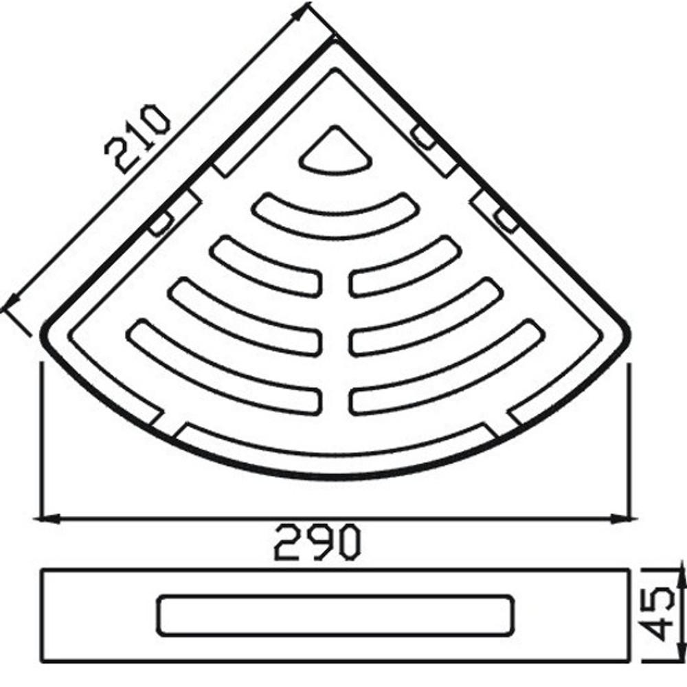 Deluxe Rose Gold Single Layer Corner Basket 872-1rg
