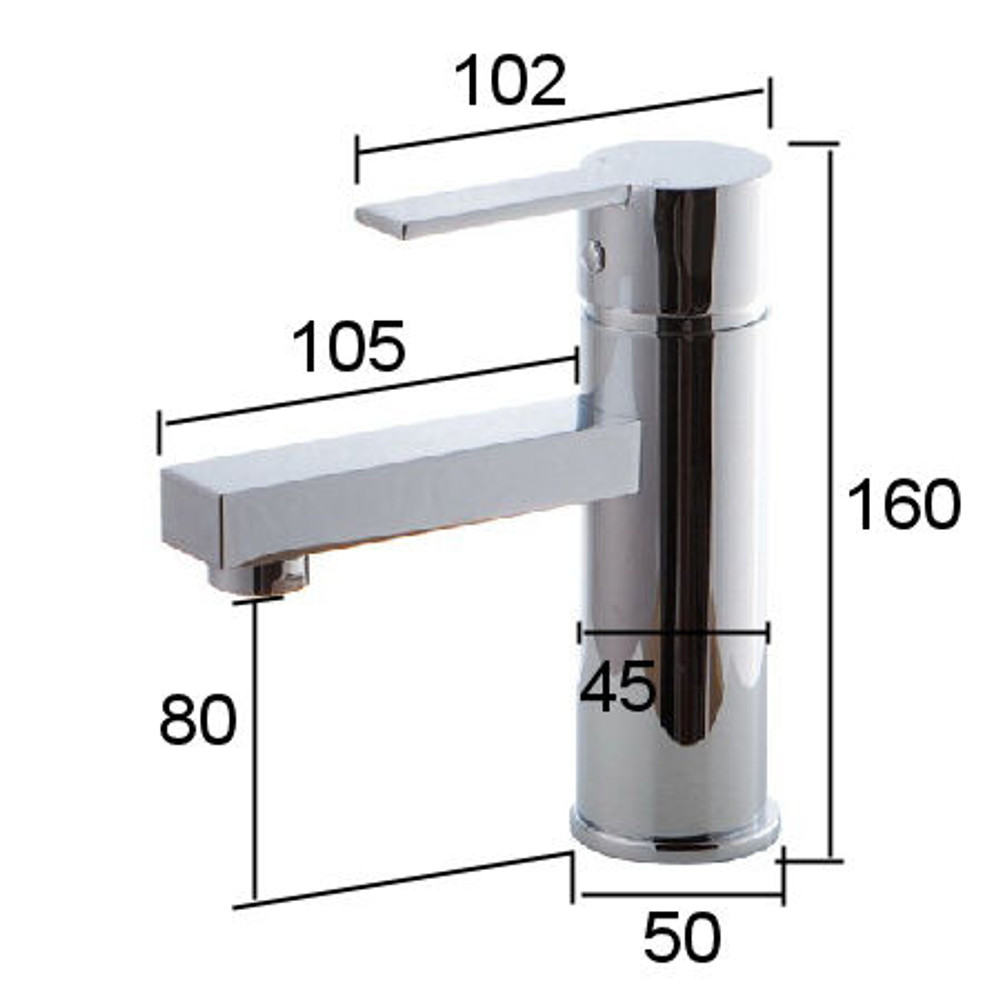 Normandy Shadow Basin Mixer Tap