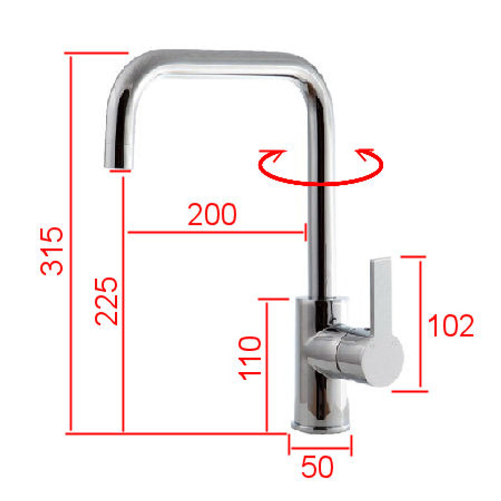 Normandy Shadow Basin, Kitchen & Laundry Sink Mixer Tap