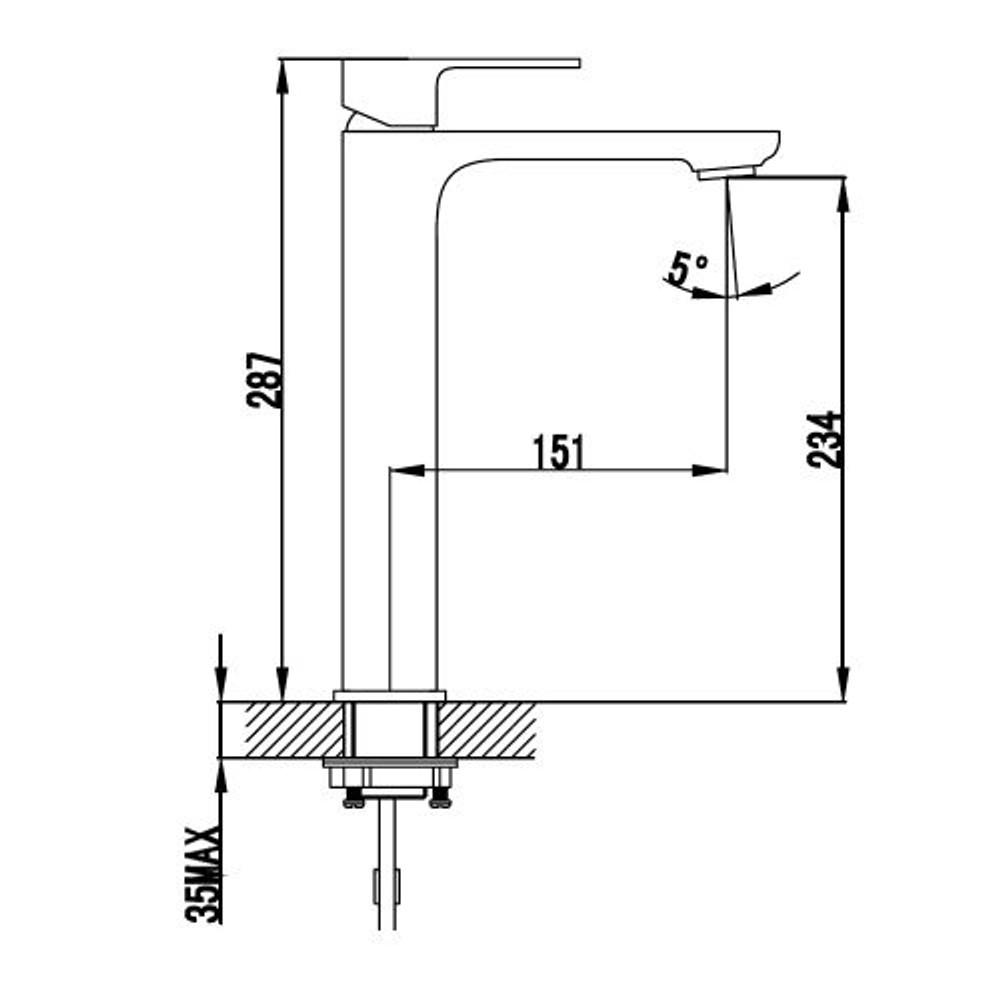 ikon SETO Basin Tower Mixer Tap - Chrome
