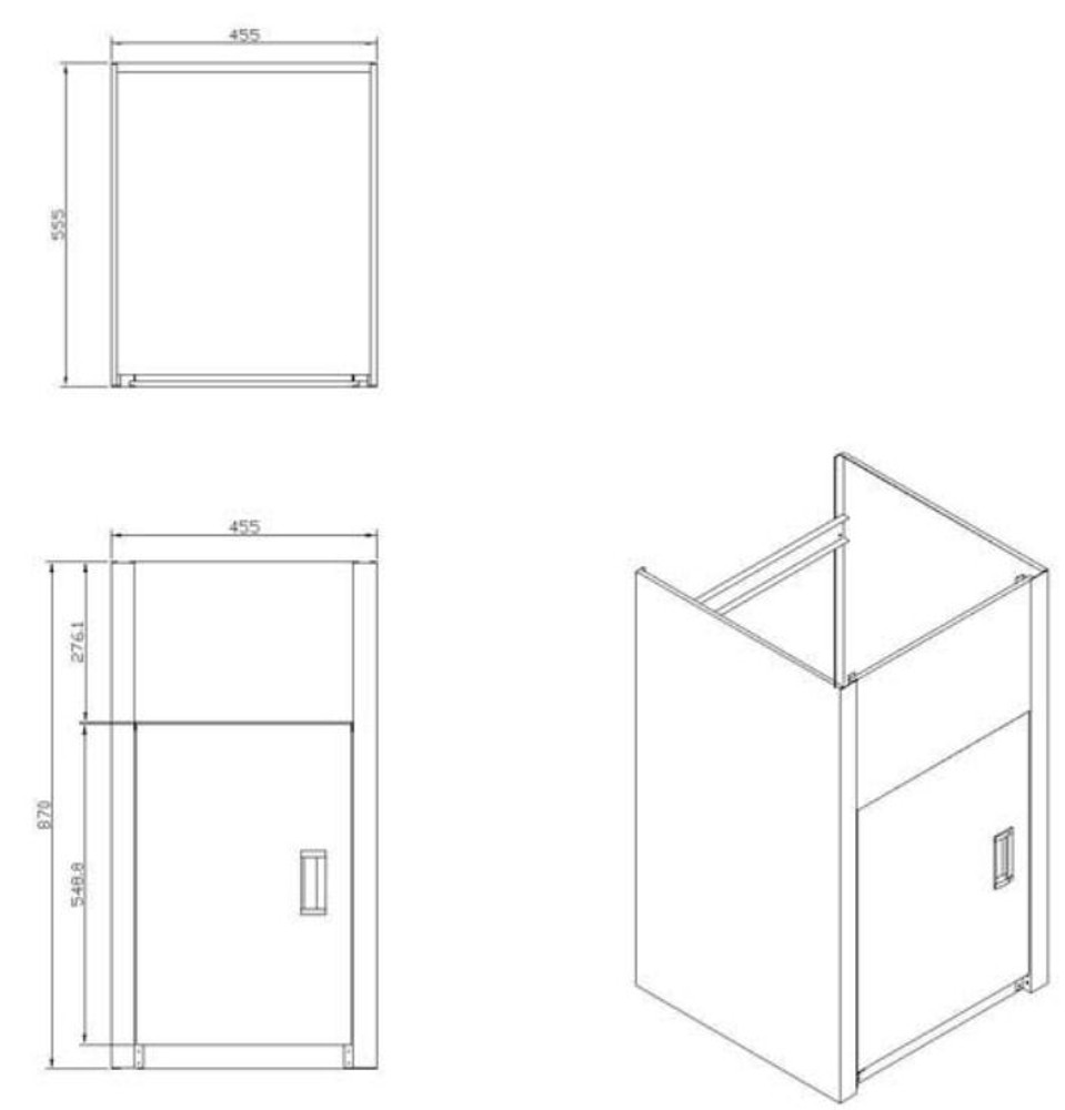 35L Compact Cabinet - Door at 455mm Side