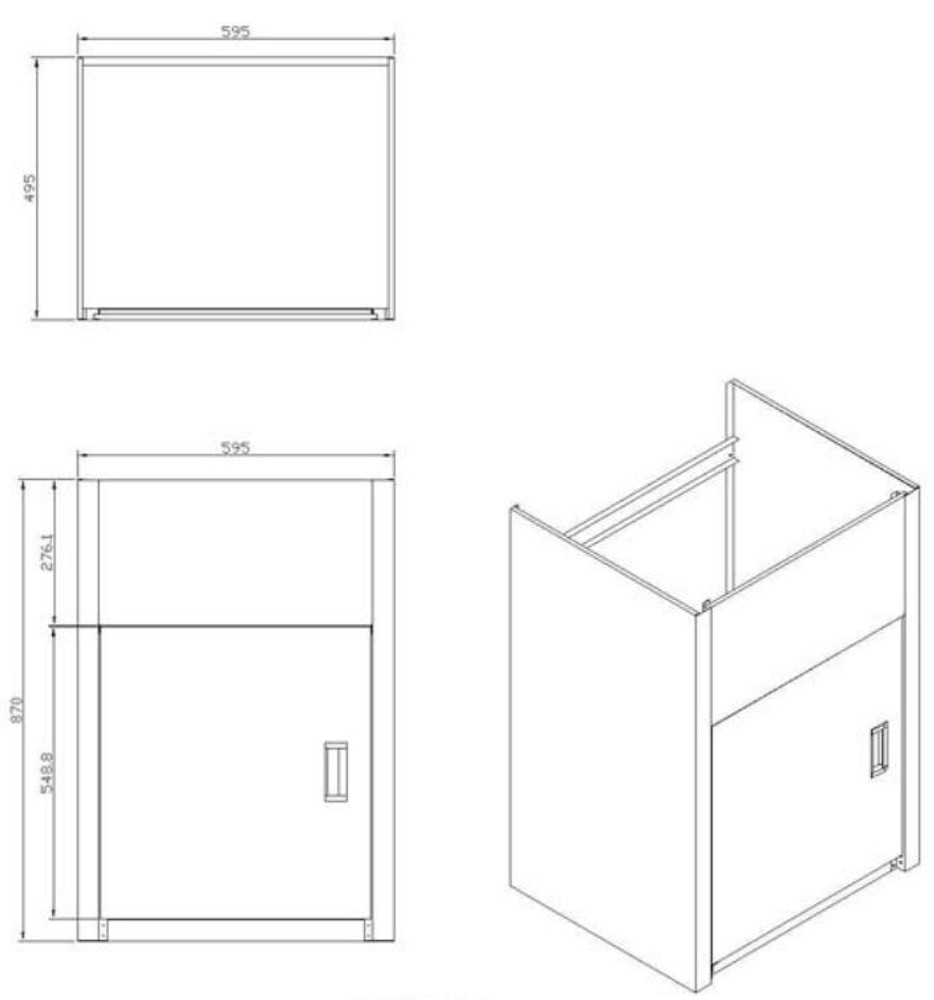 PROJECT 45 Liter Laundry Sink Tub Cabinet (SINK + CABINET)