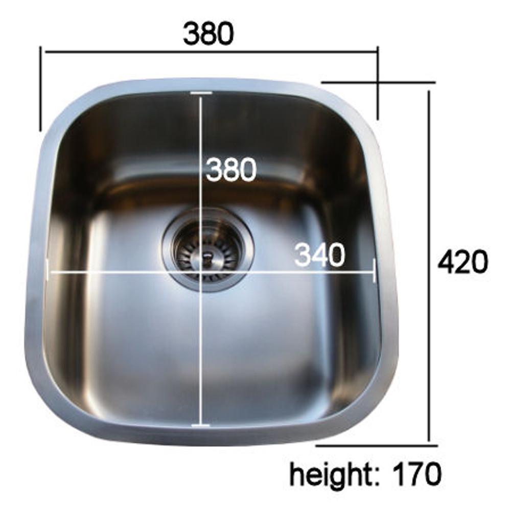 PROJECT Satin Under Bench Under Mount  Stainless Steel Sink -MEDIUM