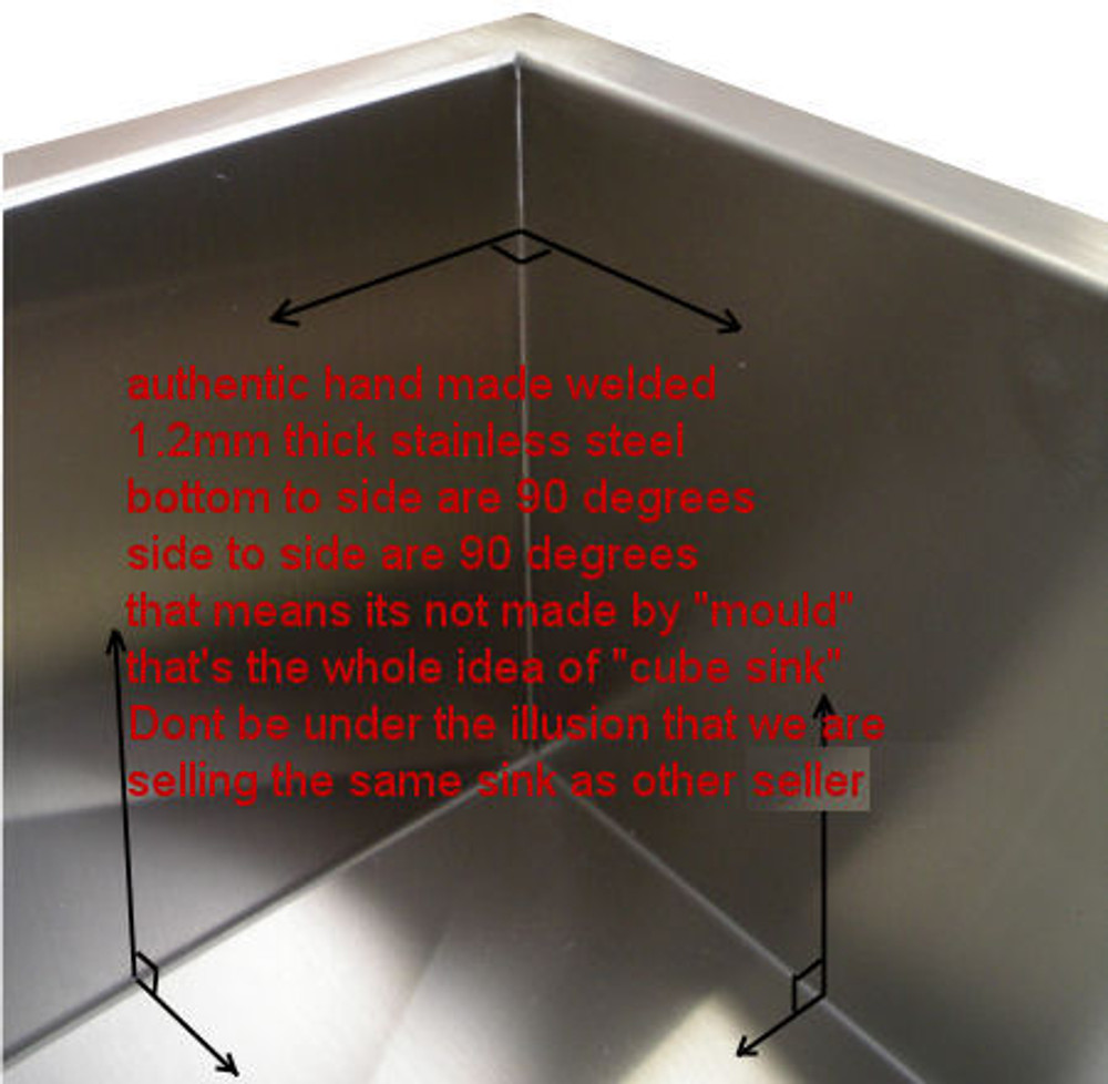 SUPER DEEP - CUBE 60 Litre UNDERMOUNT or DROP IN SINK