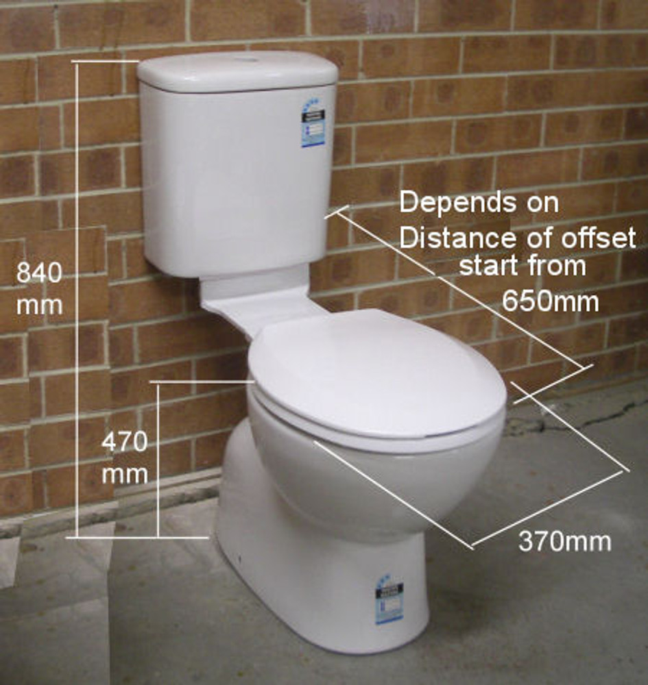 TWA Roma Linked Toilet S Trap 130mm-285mm