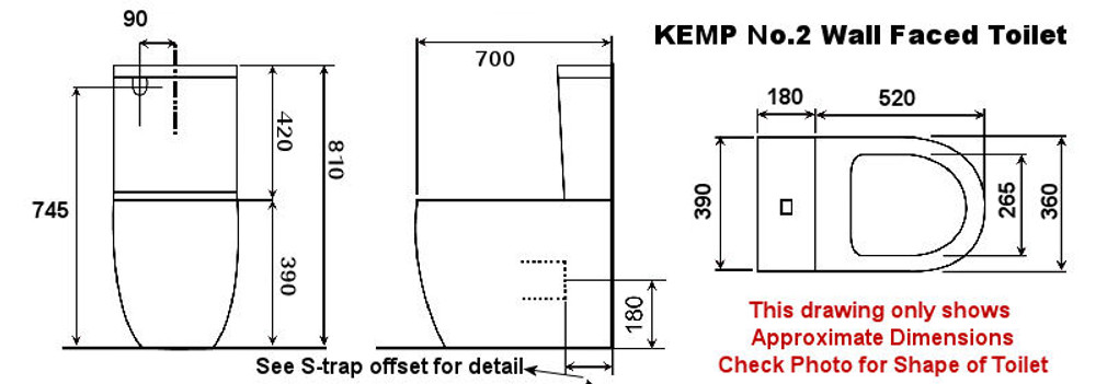 KEMP TWO Wall Faced Toilet Suite